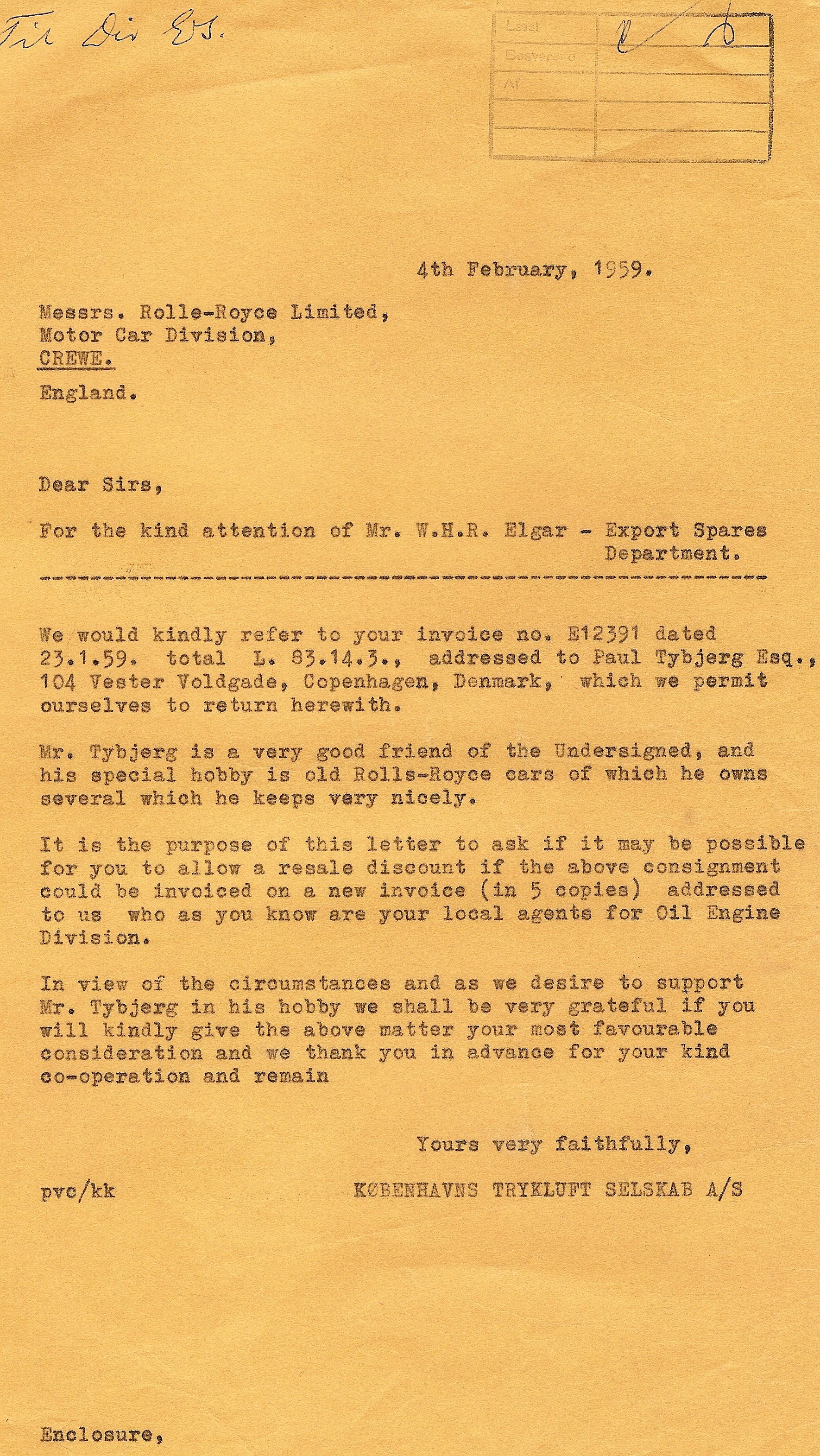 Tybjerg brev