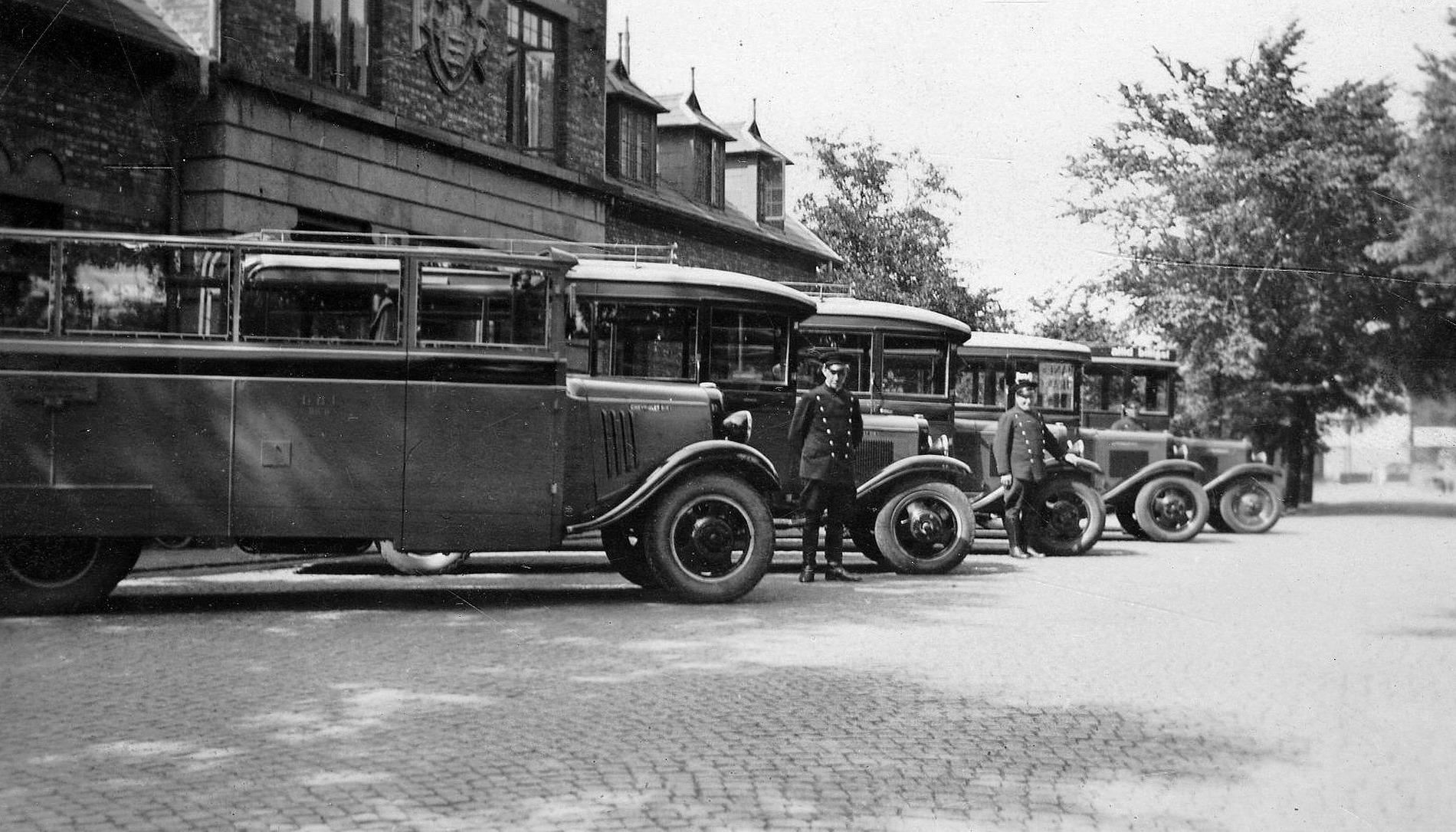 DBJ rutebiler i 1935